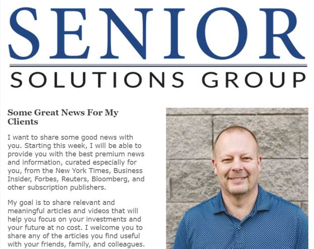 Sign up for the Senior Solutions Group eNewsletter